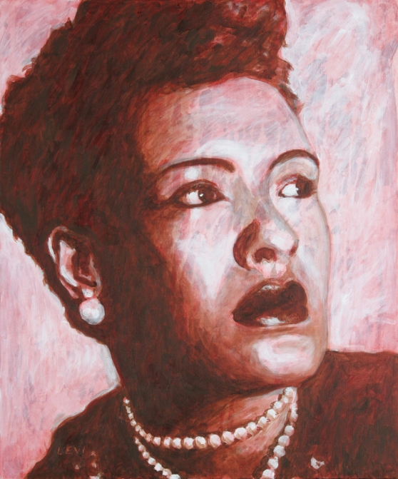 Billie Holiday. 20x24 inches. Acrylic on canvas. 2004