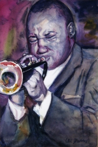 Clifford Brown. 18x24 inches. Watercolor. 1995