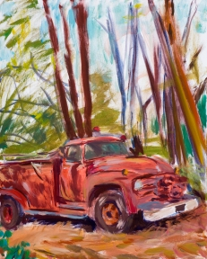 Old Anderson Valley Fire Truck. 20x24 inches. Acrylic on canvas. 2007