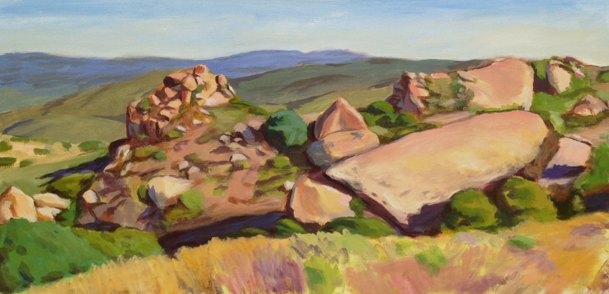 "West Hills Overlook. 24""x48"". Acrylic on canvas. *Original available. 2012"