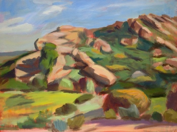 "The Heights Of Woolsey Canyon. 30""x40"" Acrylic on canvas. 2012."