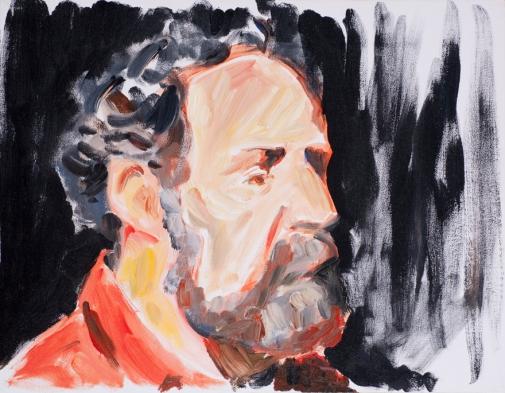 "Tomas Dertner. 14""x18"" Acrylic on canvas. 1997."