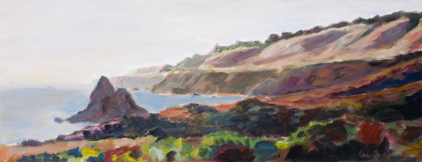 "Westport Seascape. 10""x24"" Acrylic on paper. 1997"