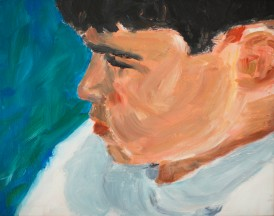 Ezra. 14x18 inches. Acrylic on masonite. 1995